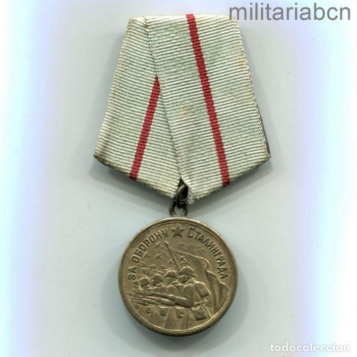 Militaria: URSS Unión Soviética Medalla por la Defensa de Stalingrado 1941-1945. Медаль За оборону Сталинграда - Foto 3 - 279411253