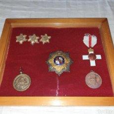 Militaria: CUADRO MEDALLAS MILITARES - MERITO MILITAR - MERITO CAMPAÑA - LEGION CONDOR - VICTORIA. Lote 280401723
