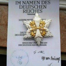 Militaria: ESTRELLA DE LA GRAN CRUZ ORDEN DEL ÁGUILA ALEMANA - CON ESPADAS (PLATA). Lote 274817468