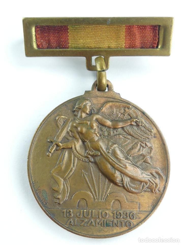 MEDALLA CONDECORACION. ALZAMIENTO 18 JULIO 1936 - VICTORIA 1ABRIL 1939 (Militar - Medallas Españolas Originales )