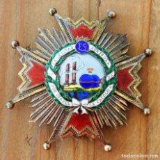 Militaria: PLACA DE LA ORDEN DE ISABEL LA CATOLICA, COMENDADOR, MODELO FRANCO, EN PLATA DORADA Y ESMALTES, EN P. Lote 285960613