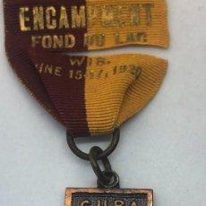 Militaria: MEDALLA GUERRA DE CUBA. 1898-99. ESPAÑA – ESTADOS UNIDOS. 1920. WISCONSIN. VETERANO C. K. RADWAY. Lote 286308978