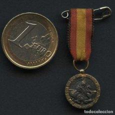Militaria: GUERRA CIVIL, MEDALLA DE PLATA MINIATURA, 17 JULIO 1936, ARRIBA ESPAÑA, CINTA VANGUARDIA. Lote 287169598