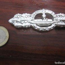 Militaria: BROCHE FRENTE COMBATE SUBMARINOS U BOAT U BOOT FRONTSPANGE SILVER SLIBER INSIGNIA MEDALLA NAZI19. Lote 287179228