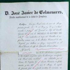 """Militaria: DOCUMENTO DE CONCESIÓN DE LA MEDALLA DE """"ALFONSO XII"""".. Lote 287228863"""