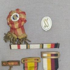 Militaria: LOTE DE MEDALLAS, INSIGNIAS Y UN PASADOR ESPAÑOLAS.. Lote 287746878