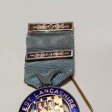 Militaria: MEDALLA MASONICA INGLESA PLATA MACIZA.SOCIEDAD DE WEST LANCASHIRE DEL AÑO 1922.EXTRAORDINARIO ESTADO. Lote 287764573
