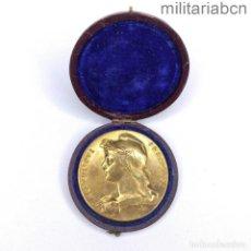 Militaria: FRANCIA. MEDALLA DEL COMICE AGRICOLE DU CANTON D'USSEL. OTORGADA A ANTOINE BAUVY EN 1905. CON CAJ. Lote 287854523