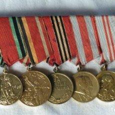 Militaria: RUSIA, ÉPOCA SOVIÉTICA. PASADOR DE UN SOLDADO QUE PARTICIPÓ EN LA 2ª. G.M Y EN LA TOMA DE BERLÍN.. Lote 290038803