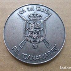 Militaria: MEDALLA..REGIMIENTO DE INFANTERIA LIGERA, CANARIAS Nº 50.. EL DE BATAN. Lote 293480908
