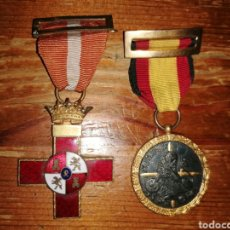 Militaria: DOS ANTIGUAS MEDALLAS GUERRA CIVIL ESPAÑOLA. Lote 294028498