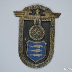 Militaria: WWII THE GERMAN BADGE NSKK WEHRSPORTFAHRT NACH HERINGSDORF 1933. Lote 294112013