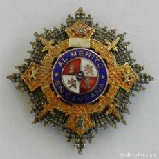 Militaria: GRAN PLACA DEL MERITO MILITAR EN CAMPAÑA . GUERRA CIVIL. EPOCA DE FRANCO. MIDE 6,2 CMS DE PUNTA A PU. Lote 294165218