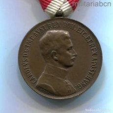 Militaria: AUSTRIA. MEDALLA DE LA BRAVURA. 1916-1918. KARL I. BRONCE.. Lote 295034743