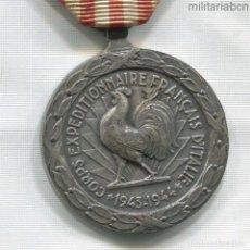 Militaria: FRANCIA. MEDALLA CONMEMORATIVA DE LA CAMPAÑA DE ITALIA 1943-1944. Lote 295456483