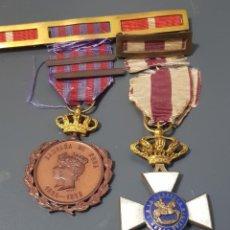 Militaria: ANTIGUA MEDALLA CAMPAÑA DE CUBA 1895-1898 Y MEDALLA A LA CONSTNCIA MILITAR EPOCA ALFONSO XIII LOTE. Lote 295794598