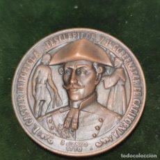 Militaria: MEDALLA DE CON ESTUCHE. DIPUTACIÓN PROVINCIAL DE LÉRIDA. II CENTENARIO. 1970. BRONCE. 96 G. 6 CM.. Lote 295843043