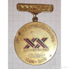 """Militaria: CUBA MEDALLA CONMEMORATIVA """"XX ANIVERSARIO. 1953-1973"""". Lote 296038793"""