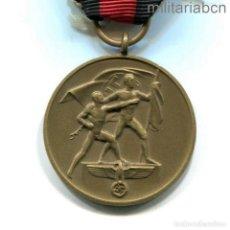 Militaria: ALEMANIA III REICH. MEDALLA DE LA ANEXIÓN DE LOS SUDETES 1 DE OCTUBRE 1938. Lote 296612103