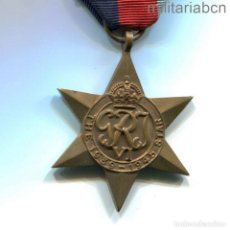 Militaria: REINO UNIDO. THE 1939-1945 STAR. MEDALLA DE LA SEGUNDA GUERRA MUNDIAL. Lote 296612503