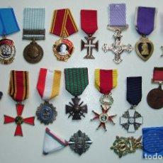 Militaria: LOTE DE 17 MEDALLAS MILITARES REEDICION. Lote 296617308