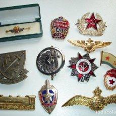 Militaria: LOTE DE 12 BROCHES INSIGNIAS MILITARES. Lote 296617418