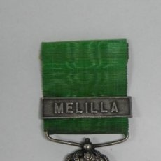 Militaria: MEDALLA MARRUECOS ÉPOCA ALFONSO XIII, CON PASADOR DE MELILLA, BUEN ESTADO DE CONSERVACION.. Lote 296763013