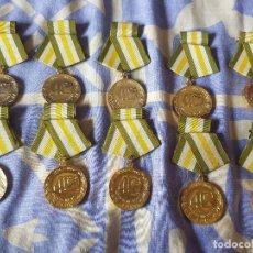 Militaria: CUBA MEDALLA 40 AÑOS FUERZAS ARMADAS 1956/1996 LOTE DE 10. Lote 296786833