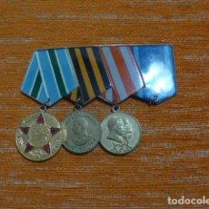 Militaria: ANTIGUO PASADOR DE MEDALLAS RUSAS DE LA URSS, ORIGINAL, GUERRA MUNDIAL. RUSIA COMUNISTA.. Lote 296890868
