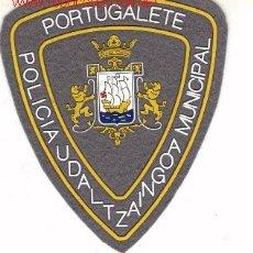 Militaria: PARCHE DE POLICIA MUNICIPAL, PORTUGALETE.. Lote 14015059