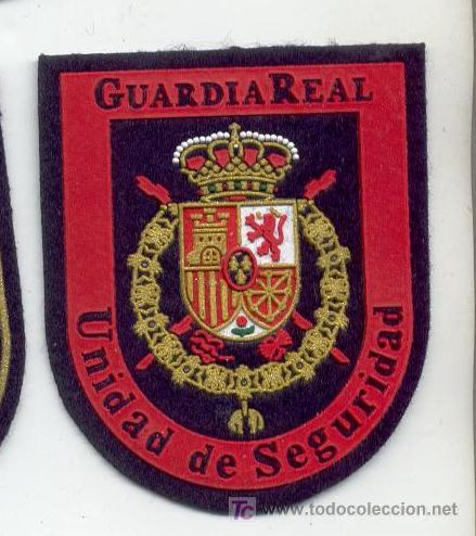 PARCHE GUARDIA REAL, UNIDAD DE SEGURIDAD, 7X6, (Militar - Parches de tela )