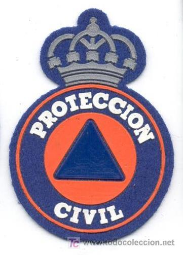 PARCHE PROTECCION CIVIL 7,5X5,5 (Militar - Parches de tela )