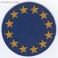 Militaria: PARCHE EMBLEMA GENERICO UEO. Lote 79226397