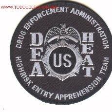 Militaria: PARCHE DE POLICIA ANTIDROGA, U.S.A., DEA-HEAT.. Lote 218555348