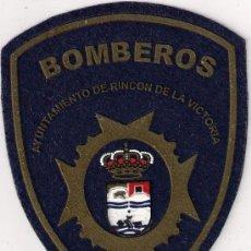 Militaria: PARCHE BOMBERO - PARCHE BOMBEROS ESPAÑA RINCON DE LA VICTORIA (ANDALUCIA). Lote 207891627