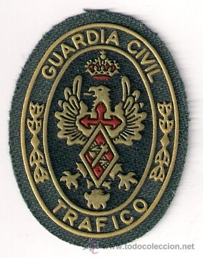 PARCHE EMBLEMA ESCUDO GUARDIA CIVIL G.C. UNIDAD TRAFICO (PECHO) (Militar - Parches de tela )