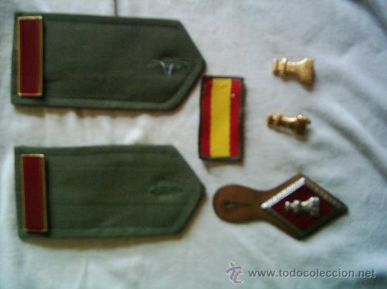 LOTE INSIGNIAS SOLDADO DE 1ª DE INGENIEROS (Militar - Parches de tela )