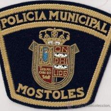 Militaria: PARCHE EMBLEMA POLICIA MUNICIPAL MOSTOLES (C. MADRID) MUY ANTIGUO AÑOS 80. Lote 207940642