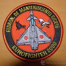Militaria: PARCHE BORDADO DE AVIACIÓN ESPAÑOLA. ESCUADRÓN DE MANTENIMIENTO. C/CE16. . Lote 100162539