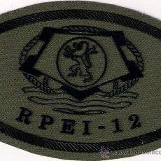 Militaria: PARCHE EMBLEMA ESCUDO EJERCITO MILITAR ESPAÑOL RPEI 12 AAA. Lote 38518566