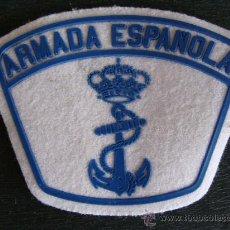 Militaria: PARCHE DE TELA. ARMADA ESPAÑOLA. PARA HOMBRO DE LA MARINA DE ESPAÑA. BLANCO / AZUL. . Lote 102092318
