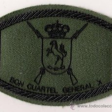 Militaria: PARCHE EMBLEMA BON CUARTEL GENERAL X PECHO VERDE. Lote 159417950