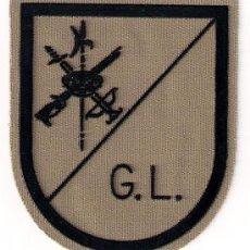 Militaria: PARCHE EMBLEMA EN SARGA MILITAR EJERCITO ESPAÑOL LEGION LEGIONARIO G L GRUPO LIGERO AAA. Lote 29967640