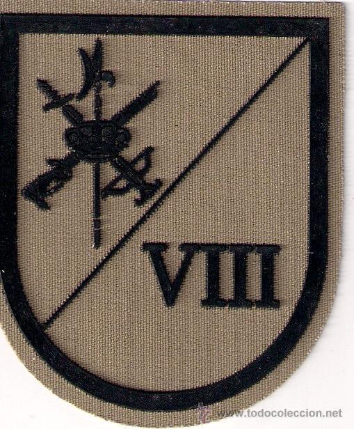 PARCHE EMBLEMA EN SARGA MILITAR EJERCITO ESPAÑOL LEGION LEGIONARIO VIII BANDERA 3 TERCIO AAA (Militar - Parches de tela )