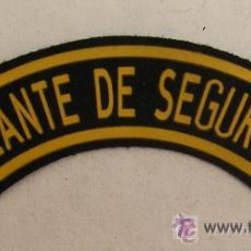 Militaria: PARCHE DE VIGILANTE DE SEGURIDAD - ESTÁNDAR COMPAÑÍAS DE SEGURIDAD ESPAÑOLAS. Lote 79827906