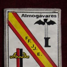 Militaria: PARCHE DEL FRENTE DE JUVENTUDES BARCELONA ALMOGÁVARES. Lote 30881509