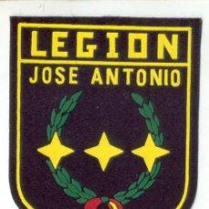 Militaria: PARCHE LEGION-JOSE ANTONIO FALANGE MIDE 7,5X10.5 CNTS. Lote 195187286