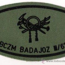 Militaria: PARCHE EMBLEMA BCZM BADAJOZ III/62 PECHO VERDE. Lote 42587837