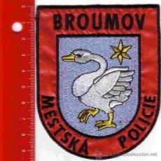 Militaria: PARCHE POLICÍA. POLICIA BROUMOV (REPUBLICA CHECA). Lote 26854038