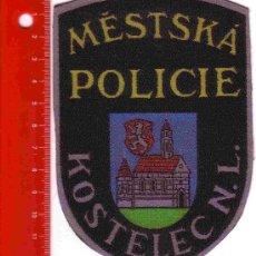 Militaria: PARCHE POLICÍA. POLICIA KOSTELEC N L (REPUBLICA CHECA). Lote 26968190
